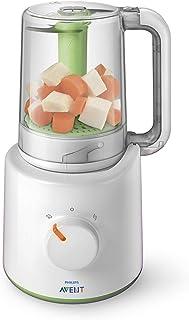 Philips Avent SCF87020 - Procesador de alimentos para bebés 2 en 1 color blanco y verde