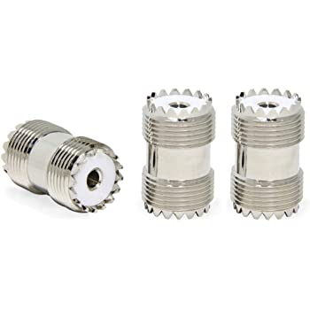 ANHAN UHF Female Bulkhead Connectors PL259 Female to Female Adapters SO239 Female Jack Connector RF Coaxial Coax Adapter 1Pack