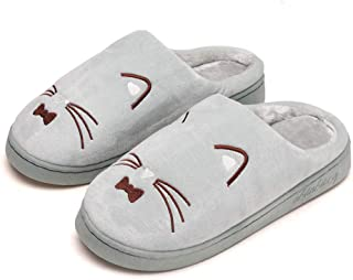 Kiyotoo Slippers for Women, Men s Slippers of Cute Cat Designs, House Slippers for Women with Memory Foam for Couples