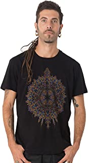 Street Habit Mexica Men's 100% Cotton T-Shirt with Exclusive Psychedelic Mandala Design