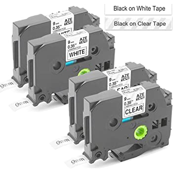 9mm x 8m 3//8 x 26.2 3-Pack Unismar Tze-121 Tze 121 Black on Clear Laminated Label Tape Compatible for Brother P-Touch PT-D210 PT-H100 PT-H110 PT-D200 PT-D600 PT-E300 PT-P300BT PT-1280 Label Maker