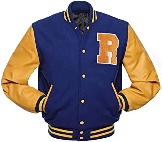 Riverdale Jas Archie Andrews KJ APA Varsity Letterman R Bomber Wollen Jas