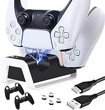 O controlador TwiHill é adequado para suporte do controlador sem fio PS5, base do controlador de jogo PS5, suporte duplo d...