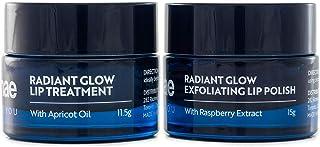 Sponsored Ad - Korean Lip Scrub & Balm Set: Gentle Lip Exfoliation with Sugar Crystals and Moisturizing Lip Treatment to V...