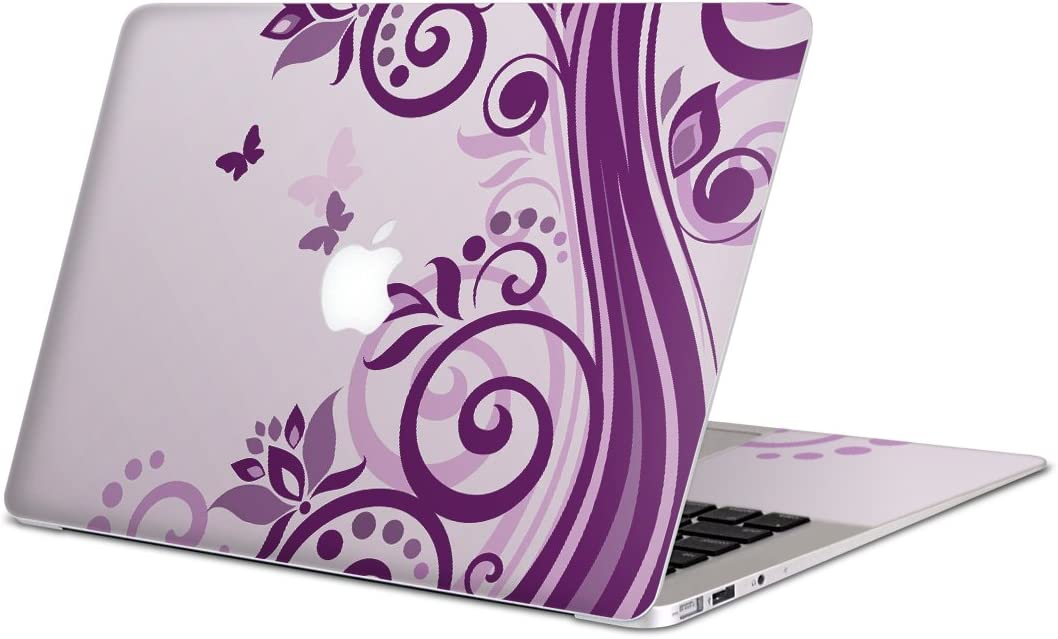igsticker Skin Decals for MacBook Pro 15 inch 2019/18/17/16(Model A1990/A1707) Ultra Thin Premium Protective Body Stickers Skins Universal Cover Flower Pattern