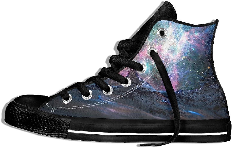 Efbj Fantasy Starry Sky Unisex Classic High Top Canvas Sneaker for Men and Women