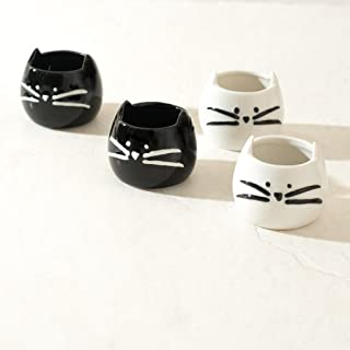 ANKIT Kitty Shot Glasses Set of 4 - Cute Funny Ceramic Shot Glass - Comes in a Beautiful Gift Box