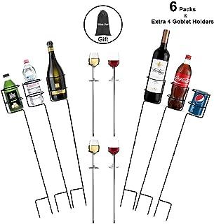 Urban Deco Heavy Duty Drink Holder Outdoor Drink Holders Drink Holder Yard Drink Holder Stakes, 6 Packs Plus Extra 4