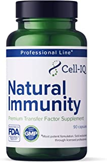 Cell-IQ Natural Immunity Transfer Factor Immune Support Probiotics with Zinc, Vitamin D, Selenium, Grass Fe...