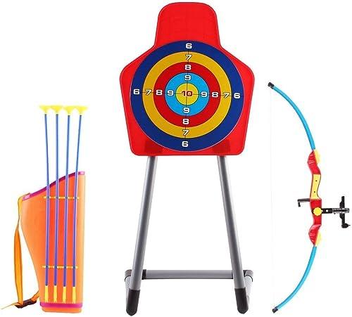 deAO Ensemble de tir à l'arc pour Enfants avec Un Arc, des flèches, Un carquois et Un Support pour Cible Inclus - Gra...