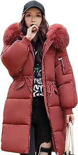 Doudoune Pliable Femme /à Capuche Ultra-L/éger Manteau dhiver Matelass/é avec Sac /à Main M-4XL