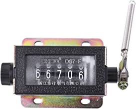 Manual Tally Counter - Digit Num Hand Tally Mechanical Arithmometer Manual Stroke Clicker Counter