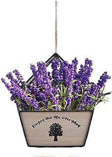 RANRANJJ Flor de Madera Maceta Maceta Creativa Maceta Colgante de Pared Maceteros Contenedor de Flor geométrica Interior Decoración para el hogar Jardín Al Aire Libre Decoración (Color : Negro)