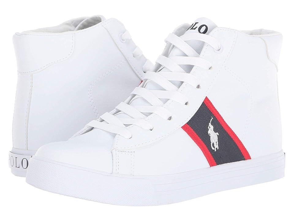 Polo Ralph Lauren Kids Geoff Mid (Big Kid) (White Tumbled/Navy/Red/White PP) Boy