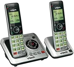 VTech CS6629-2 DECT 6.0 Expandable Cordless Phone with Answering System and Caller ID/Call Waiting, Silver with 2 Handsets photo