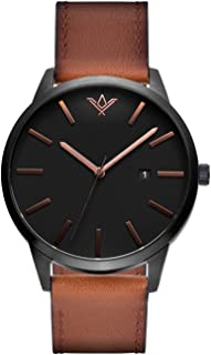 SlideBelts Brig Taylor Classic Mens Watches - 45 MM Analog Watch with Leather Band