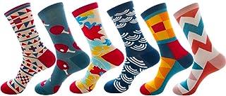 levliong, Mens Socks,Men'S 5 Or 6 Pk Colorful Patterned Dress Socks,Sports Thermal Socks Size 6-11