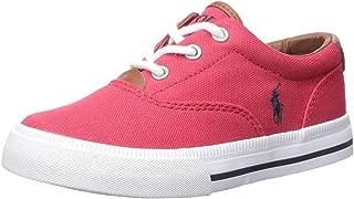 Polo Ralph Lauren Kids Vaughn Ii Sneaker, Red Canvas, 13.5 M US Little Kid
