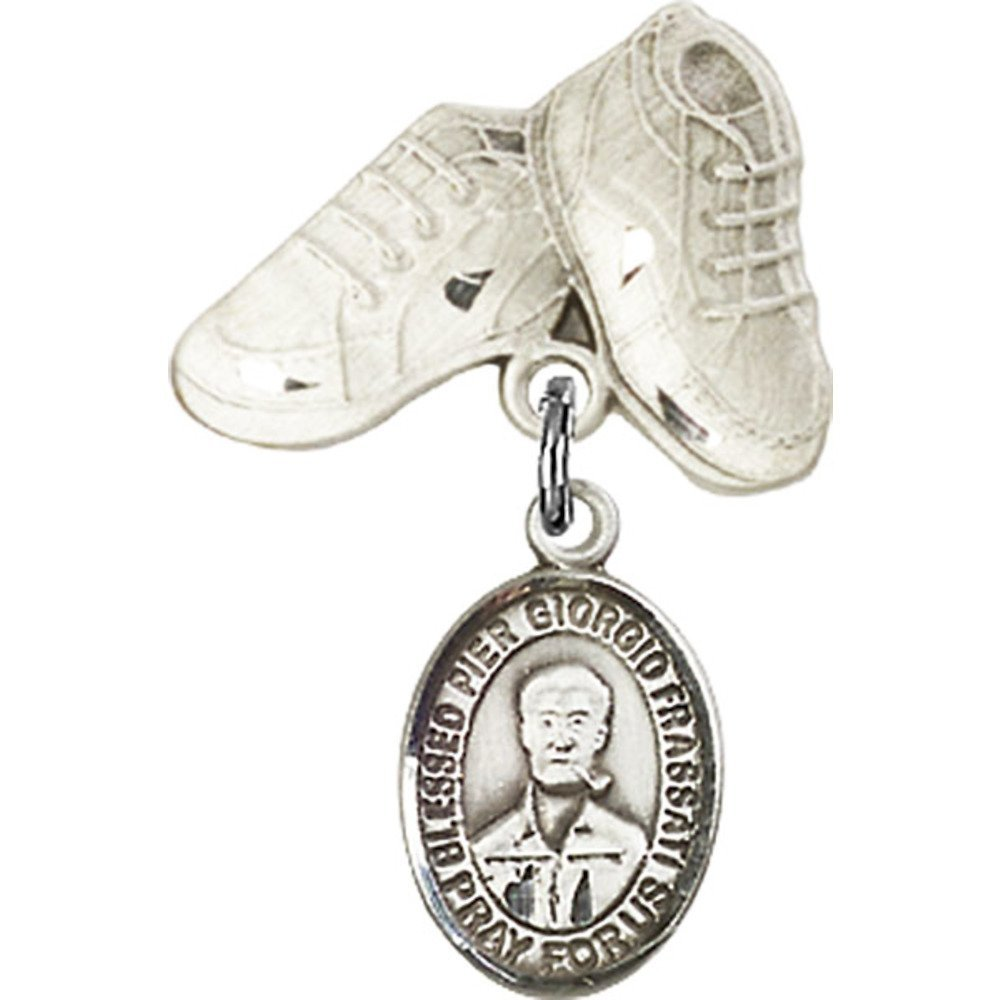Beauty products Finally popular brand Sterling Silver Baby Badge with Blessed Ch Frassati Giorgio Pier