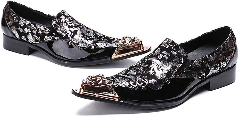 Metallformiga skor mäns mäns mäns färgmatchande klubbskor  Kvalitetssäkring