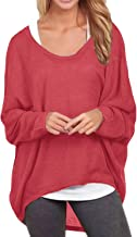 ZANZEA Women's Batwing Sleeve Off Shoulder Loose Oversized Baggy Tops Sweater Pullover Casual Blouse T-Shirt