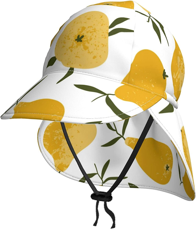 Orange New popularity Fruit Kids Sun Hat Breathab with Neck Flap mart Summer