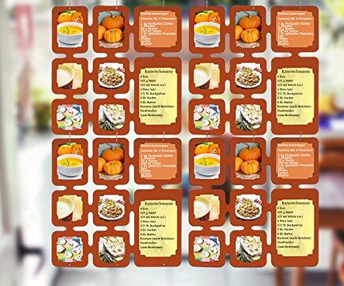Trendfinding 4 segmenten fotodecoratieve kaarten, roomdivider, fotolijst, fotocollage, fotowand, kaartengordijn, fotogordijn, galerie, gordijn, kaarthouder
