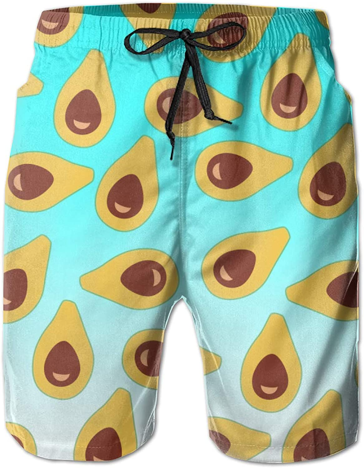 595c31559a Linxher Fruits Fruit Avocados Men's Swim Trunks Trunks Trunks Quick Dry  Swimming Volley Beach Board Shorts e58376