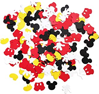 Mickey Mouse Confetti Boy Baby Shower Party First Birthday Supplies Decorations Table Decor Photo Booth Props (200 pcs)