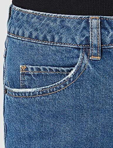 Vero Moda Vmnineteen HR Loose Shorts Mix Noos Pantalones Cortos, Azul (Medium Blue Denim Medium Blue Denim), 42 (Talla del Fabricante: Large) para Mujer