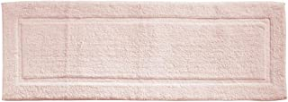 mDesign Soft 100% Cotton Luxury Hotel-Style Rectangular Spa Mat Rug, Plush Water Absorbent, Decorative Border for Bathroom Vanity Bathtub/Shower, Machine Washable Long Runner - 60
