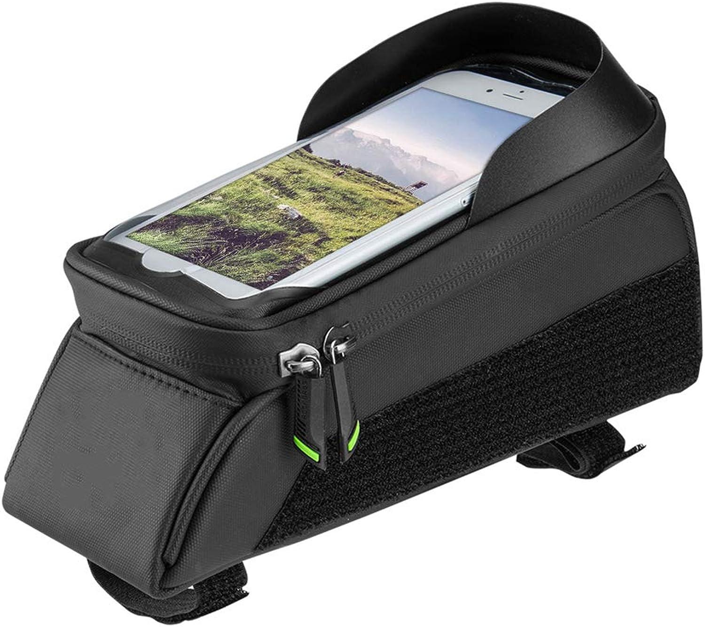 Fahrradtasche (Bike Top Tube Bag Nylon Waterproof) Fahrradtasche (Bike Phone Pouch Bike 6IN   5.8IN Bike Phone Bag),S
