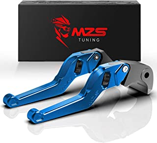 MZS Blue Short Levers Wheel Roller Brake Clutch Adjustment for FZ-07 FZ07 MT-07 MT07 FZ-09 FZ09 MT09 FJ-09 FJ09 MT-09 Tracer FZ1 FZ6 Fazer FZ6R FZ8 XJ6 Diversion XSR 700 900 ABS