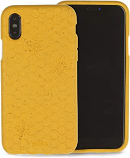 Pela   Hülle für das iPhone XS   100% kompostierbar   Biologisch abbaubar   Aus Pflanzen hergestellt   Abfallfrei (Honey Bee)