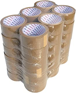 Pack of America 36 Rolls Brown Packing and Shipping Tape 55 Yards 1.88