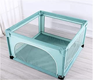 Baby Playpen With Mat  Anti-Fall Strong Durable Safety Fence Breathable Mesh Large Play Center For Indoor Outdoor Infant Toddlers Kids Playard