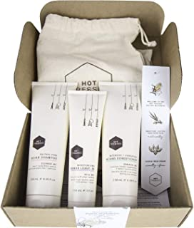 Natural Shampoo and Conditioner Hair Care Set :: Certified Vegan and Cruelty Free :: 3 Piece Gift Box :: Sulfate and Paraben Free