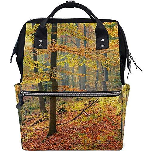 Schulrucksack Natürlicher Herbstwald Große Kapazität Rucksack Windel 28X18X40Cm Reise Baby Taschen Rucksäcke Multifunktionsreißverschluss Lässige Mutter Unisex Papa