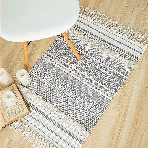 Seavish Dekorativer Teppich aus Baumwolle, bedruckt Marokkanisch 2x3 Geo Mandala