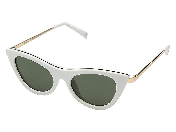 Le Specs Enchantress (White/Khaki Mono) Fashion Sunglasses