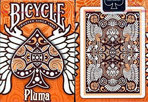 Bicycle Pluma cartes à jouer Orange