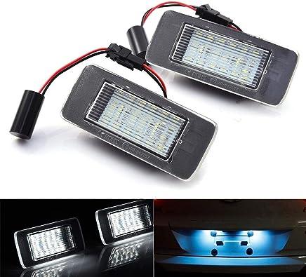 favourall - 2 Luces LED para matrícula de Coche, luz Blanca, 12 V,
