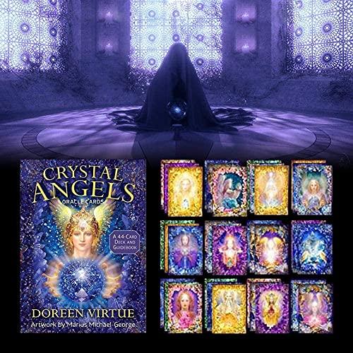 Tarotkarten Tarot-Karten-Deck 44pcs Board-Spiel-Kristall-Engels-Orakel-Karten-Weissagung Zukünftige Schicksal-Vorhersage Mysteriöse Astrologie-Tarot-Kartenset,für Anfänger oder erfahren