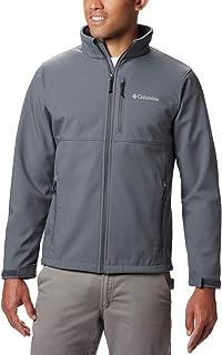 Columbia Mens 1556531 Ascender Softshell Jacket Standing Collar Long Sleeves Jacket