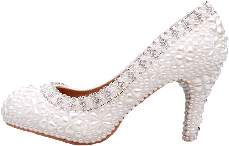 Y Y Y &C Kvinnors fullständiga pärlor Brudtänder Bröllopsskor  stor rabatt