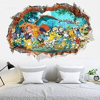 ملصق حائط ثلاثي الابعاد ملصق حائط لاصق اكسسوارات ديكور غرفة اطفال صورة ثلاثية الستيريو كرتونية
