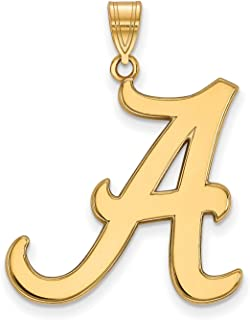 925 Sterling Silver Yellow Gold-Plated Official Florida State University Small Pendant Charm 18mm x 12mm