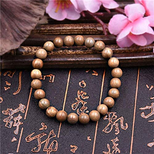 Pulsera Brazalete,Regalo De La Joyería,8Mm Natural Wood Beads Sandalwood Prayer Bead Mala Bracelet Men Bracelets & Bangles Gifts