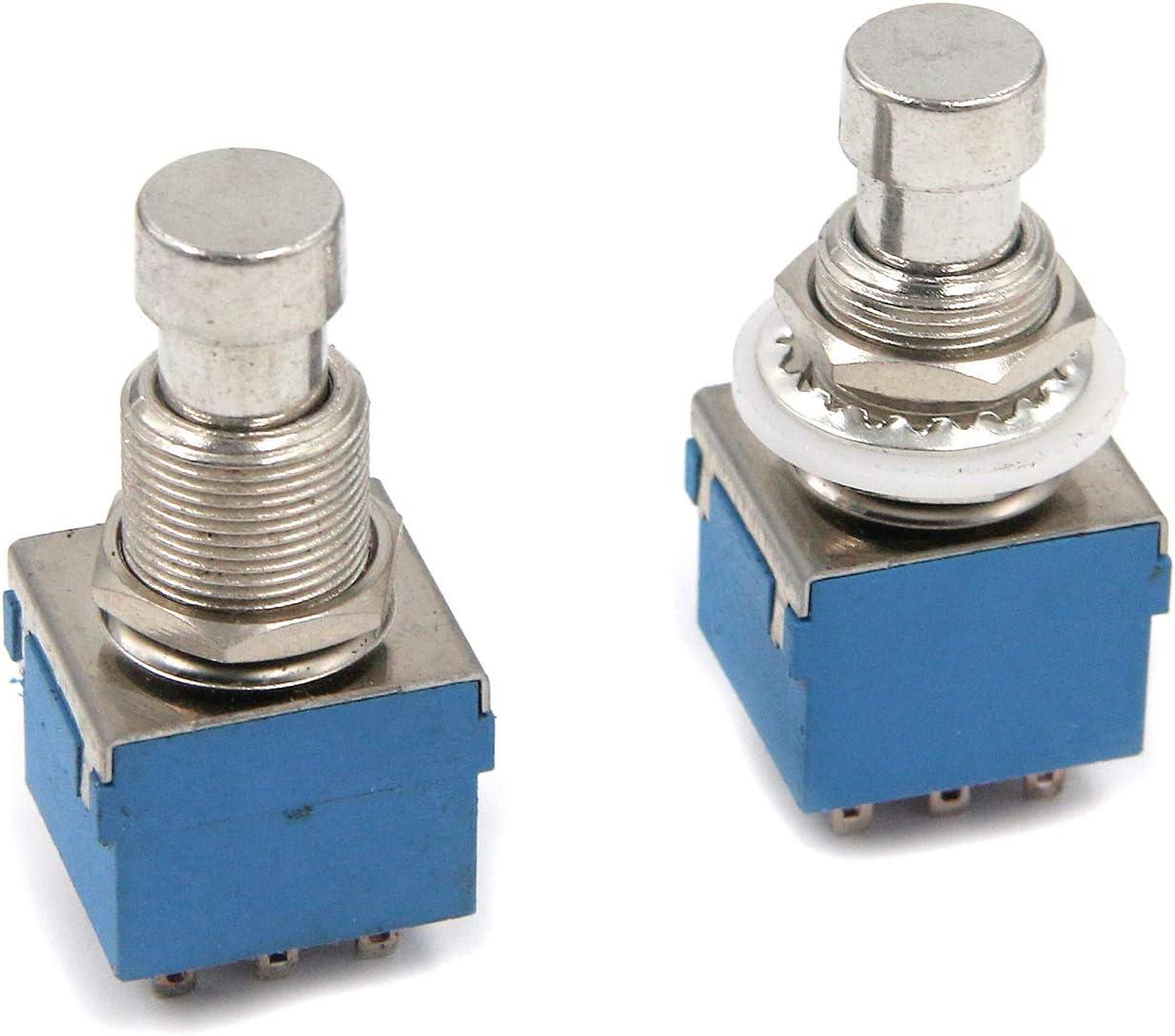 Geesatis 2 Pcs Guitar Effect Max 72% OFF Pedal Box Pins Foot Switch Overseas parallel import regular item Stomp 9