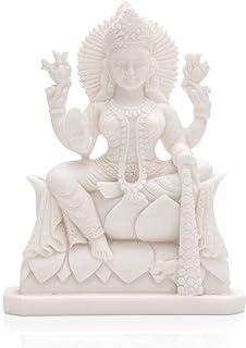 CraftVatika Goddess Lakshmi Laxmi Idol Murti Statue Showpiece for Home Pooja Room Mandir Temple Diwali Decoration Items Gi...